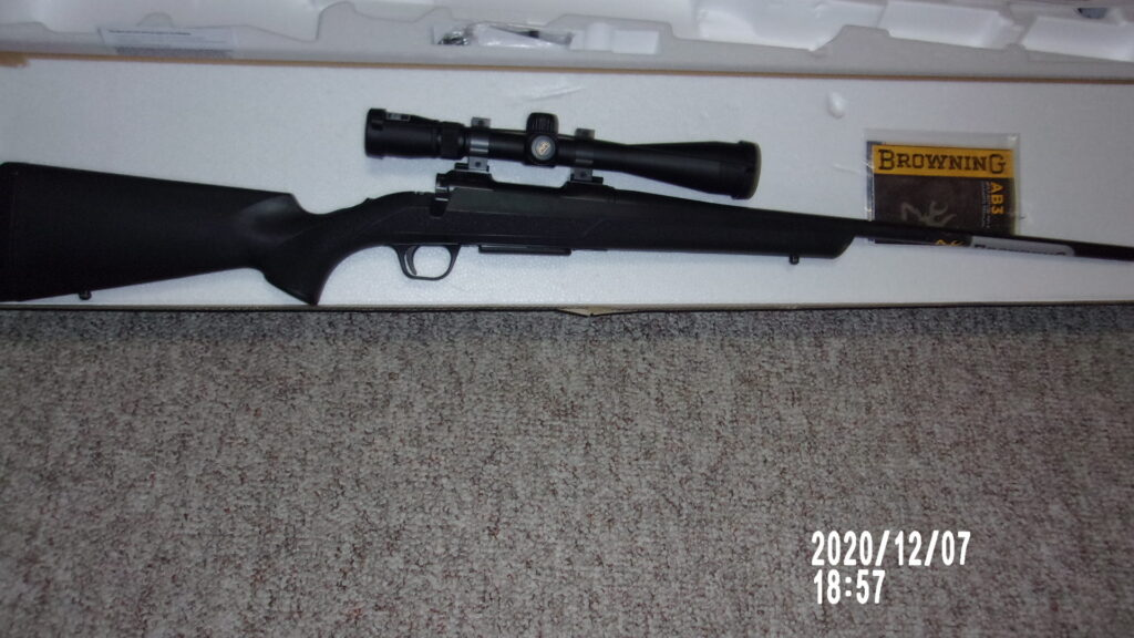 Browning Bolt Action with scope